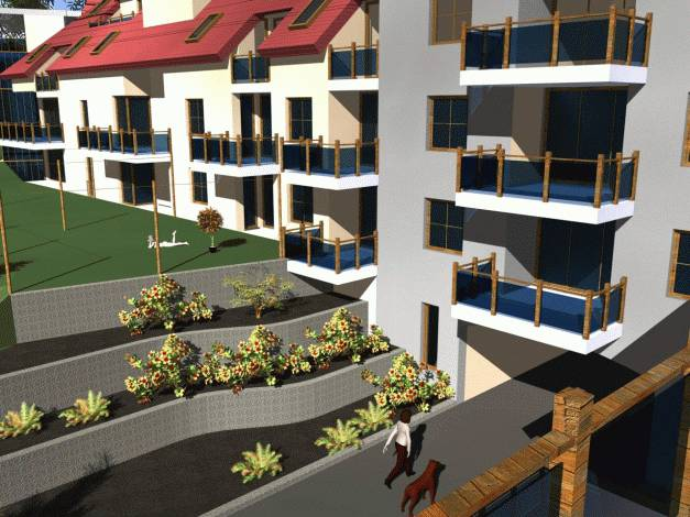 Vizualizace z balkónu