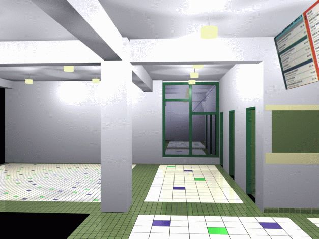 Návrh interiéru vestibulu