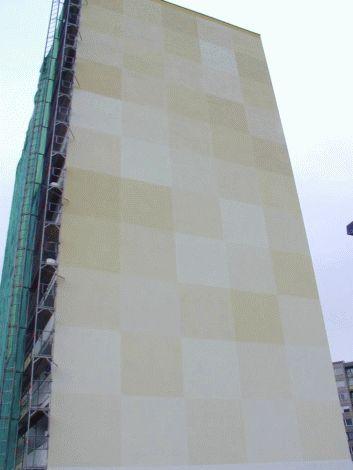 Realizace detailu jižní fasády