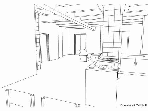 Perspektiva interiéru 02 varianta B