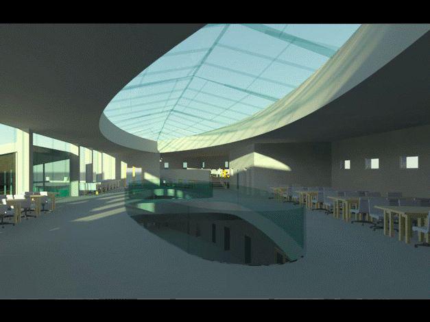 Vizualizace interiéru studijních prostorů