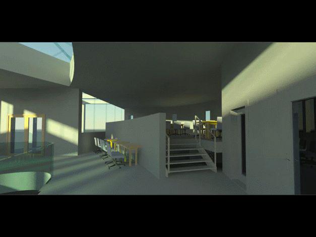 Vizualizace interiéru prostorů pro počítače