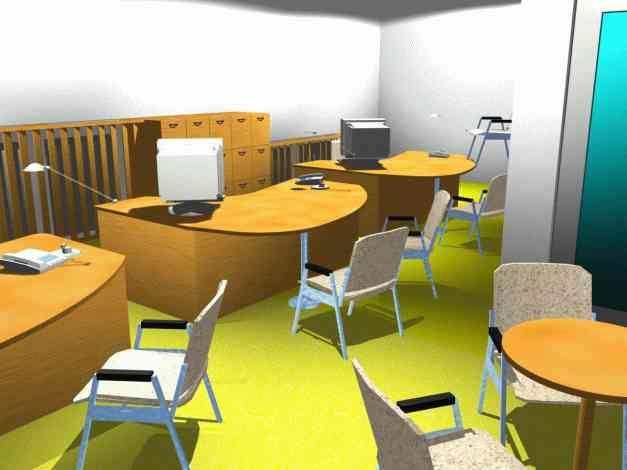 Vizualizace kanceláří varianta třetí